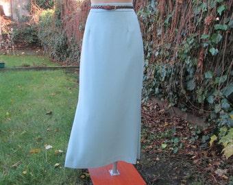 Long Skirt Vintage /Maxi / Blue / Pencil Skirt / Side Slits  / Size EUR 38 X UK10 X US8