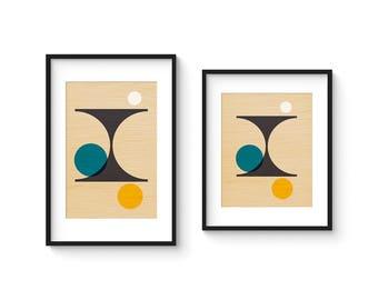 PER FORMARE no.2 - Giclee Print - Mid Century Modern Danish Modern Style Minimalist Modernist Eames Abstract