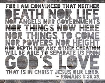 Romans 8:38,39 For I Am Convinced Original Papercut Scripture Wall Art