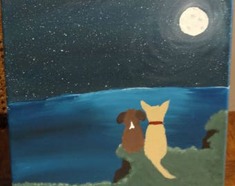 Personalized Custom Pet Portrait Scenery Painting