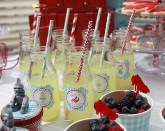 Glass Milk Bottle, Milk Jars, Vintage Milk Bottles, Party Glasses, Wedding Drink Bottles or Glasses- (12) Mini Milk Jug