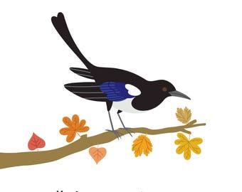 Magpie (4x4 Card)