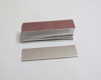 18 gauge Rectangle blanks 1/2 x 2 -Metal blanks - rectangle blanks - hand stamping blanks - id bracelet blanks