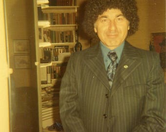1971 Original Photograph of a Curly Haired young Man ~ B147 From the USA