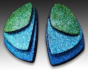Butterfly wings polymer clay stud earrings
