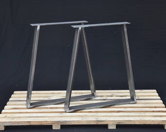 "Trapezoid Steel Table Legs,  Kitchen Table Legs, Powder Coated SET of 2 Hight 28"" -72 cm"