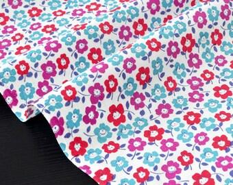 English cotton fabric soft floral background ecru x 50cm
