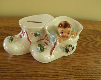 Adorable Lefton Baby Bank