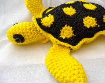 Yellow Sea Turtle Plush - Yellow Sea Turtle Plushie - Yellow Sea Turtle Stuffed Animal - Yellow Sea Turtle Amigurumi - Yellow Sea Turtle Toy