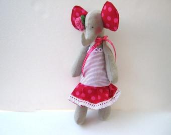 Handmade Stuffed Elephant,plush,soft toy,stuffed animal toy for children,birthday gift,handmade,toy for children, Baby shower