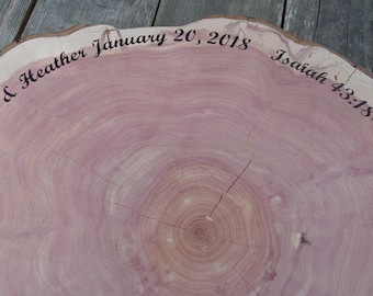 Rustic Guest Book, Guest Book Alternative, Large Tree Slice Guest Book, personalized, extra large wood slice, extra large wedding guest book