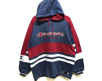 Vintage Champion Hoodie Embroidered