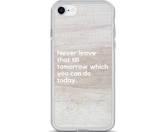 iPhone X Case, Do it Today Quote, Clear case, iPhone 8 plus Case, iPhone 7 Plus Case, iPhone 7 Case, iPhone 6s, iPhone 8 Case, Phone Case