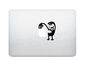 monster boo sticker decal computer apple macbook motif  laptop notebook tattoo decoration vinyl decals picture motif illustration