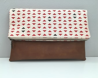 Triangles Foldover Clutch