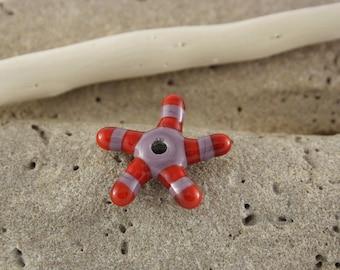 Lampwork Glass star bead