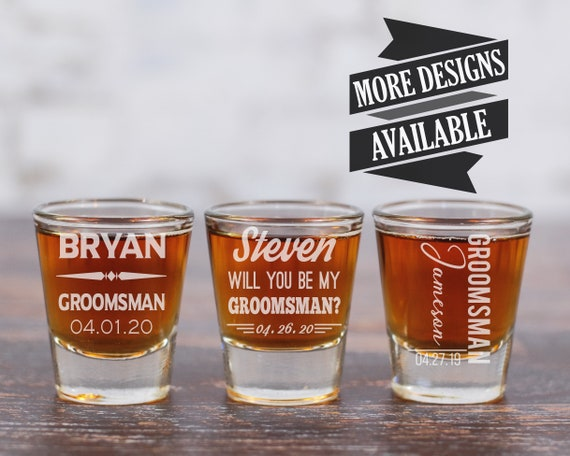 Groomsman Shot Glass
