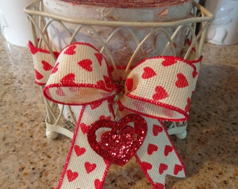 Large Birch Log Candle Holder Valentine Heart/Country/Cabin/Rustic