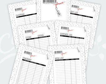 Black Friday Planner • Printable • Stores Page • Itinerary • Gift List • Shopping List • Expense Log • Wish list • Download