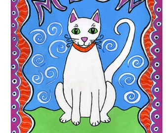 """Set of 10 Greeting Cards """"Meow"""""""