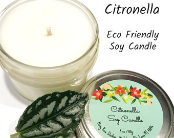 citronella candle, soy candles handmade, soy candles essential oil, mosquito repellent candle, summer candles, camping candles