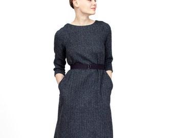 wool dress midi