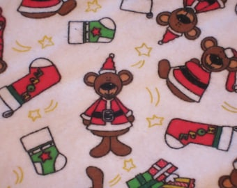 Christmas Snow Bears, Stockings and Presents - Standard Pillow Case