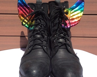 Rainbow shoe wings