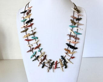 Native American Fetish Necklace Double Strand