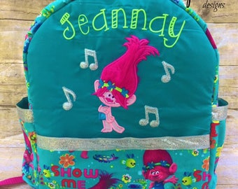 Trolls Backpack,      Customized,    100% made from scratch!