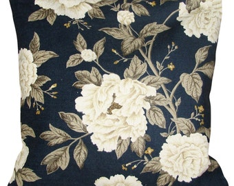 Sanderson Peony Tree Midnight & Ivory Cushion Cover