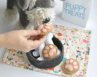 Felt Puppy Treats, pretend play treats for your favorite stuffed animals!