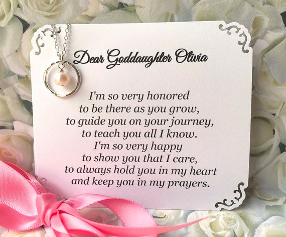 Gift For Goddaughter Birthstone Necklace Sterling By: GODDAUGHTER Gift With POEM CARD Goddaughter Jewelry Gift For