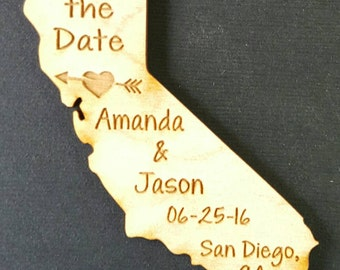 50 Wedding Favor, California Wedding Favor State Magnets - Bride, Groom, Gift, Save the Date, Rustic, Custom, United States Magnets