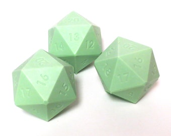 D20 Gamer Dice Giant Soap Bar Ball SPICED PEAR Green Color Ready To Ship Geek Gifts