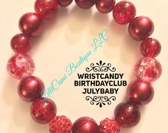 Birthday/July/Bracelet/Ruby