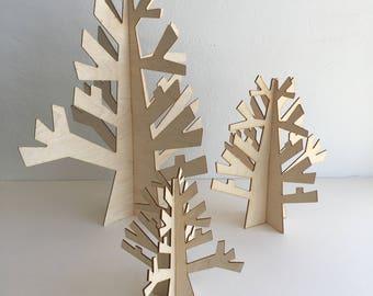 Small Wood Display Tree
