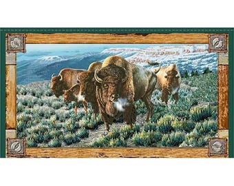 """Where The Buffalo Roam 24"""" x 42"""" Panel from Quilting Treasures by the panel"""