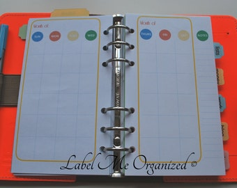 Perpetual Monthly Planner - Personal Sized