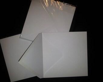 White envelope square 165 x 165 mm