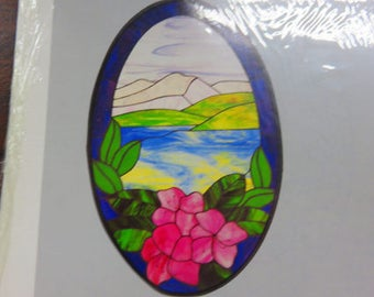 "Pattern - Stained Glass Pattern - Carolyn Kyle CKE-12 Pattern:  ""Nature's Beauty"""