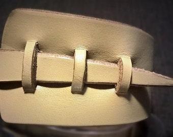 Bangle bracelet, chunky leather, modern style.