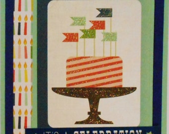 A2 Celebration Birthday Handmade Card Masculine