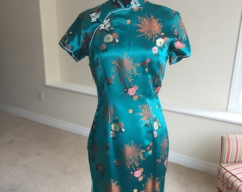 Asian Oriental Chinese Brocade Dress