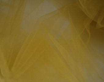 "Gold Tulle Fabric 56"" Wide Per Yard"