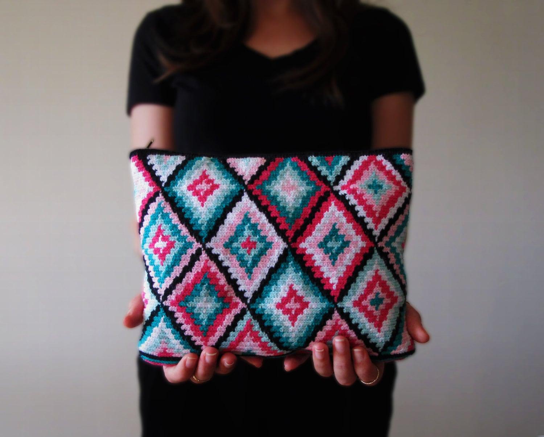Diamond forest crochet clutch pattern tapestry crochet pattern this is a digital file dt1010fo