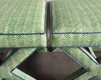 CUSTOM X Benches With Contrast Piping- COM