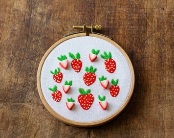 Embroidery - strawberries