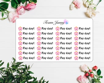 Pay day stickers for Erin Condren, Happy Planner, Filofax, Scrapbooking etc