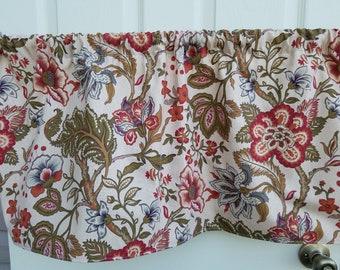 "Richloom Home Essentials Chalet Paprika 42"" Valance Curtain"